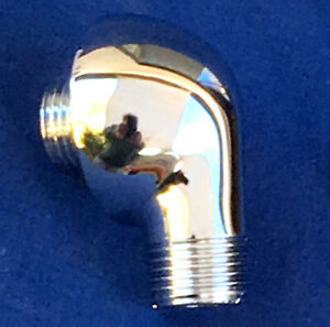 SOLID BRASS ✅ NEW BOSSINI DOME CHROME ROUND DROP ELL HAND HELD SHOWER, ROHL MOEN