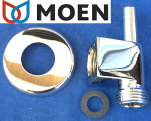 SOLID BRASS ✅ NIB MOEN 91866 CHROME SQUARE DROP ELL & POST for HAND HELD SHOWER