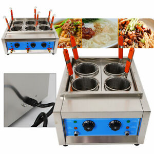 Commercial 4/6 Holes Noodle Cooker Electric Pasta Cooking Machine Pasta Marker