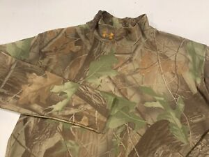 Under Armour Realtree Camo Cold Gear Compression L S Hunting Shirt Men's XL $19.99