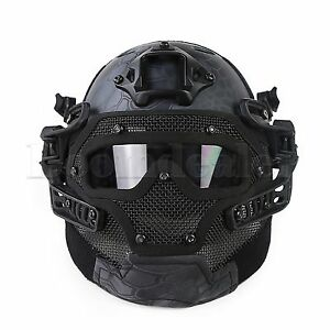 Tactical Airsoft Paintball Fast Helmet Full Face Goggles G4 System Games $92.10