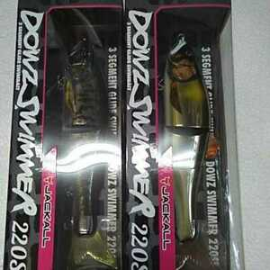 Jackall Dowz Swimmer 220SF Ayu 2 pieces set Snake Head hard lure big bait new