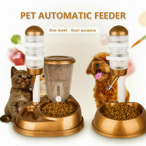 Automatic  Pet Cat Dog Feeder Water Fountain Large Capacity  Bucket Dispenser  $32.95