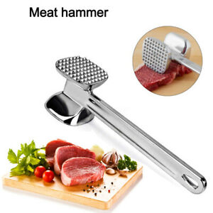 Aluminum Alloy Meat Metal Mallet Tenderizer Steak Beef Chicken Hammer  W3