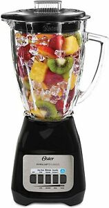 Oster Classic Series Glass Blender  Black  6 Cup, 5 Speed NEW