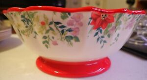 The Pioneer Woman Holiday Cheer Floral Footed Cereal Soup Bowl 7