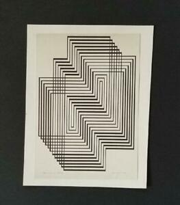 Josef Albers Ascension From Graphic Tectonic Mounted bw Litho 1973 PlateSigned $39.00