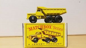 MATCHBOX LESNEY EUCLID QUARRY TRUCK No. 6 & ORIGINAL BOX
