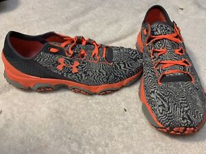 Under Armour Womens 7.5 Speedform XC Trail Sneakers Shoes Gray Orange Running $29.99
