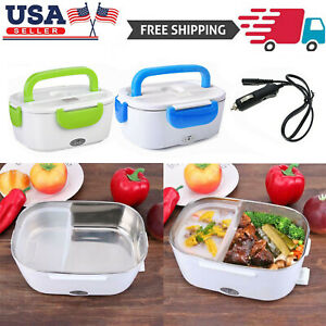 12V Portable Car Electric Heating Lunch Box Food Heater Bento Warmer Container $16.99