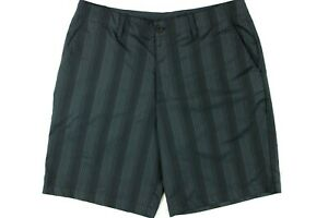 Under Armour Men's Loose Fit Golf Shorts Size 36 Black Vertical Striped Stretch $17.99