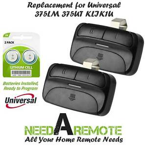 2 For 375UT LiftMaster Universal Garage Door Remote 375LM Chamberlain KLIK1U