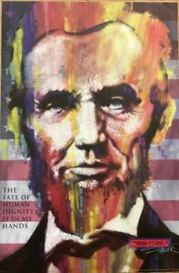Abe Lincoln Inspirational Art Poster 24 x 36 $104.95