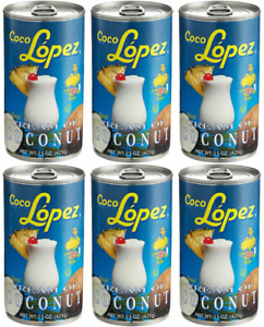 4 Cans Coco Lopez Authentic Real Cream Of Coconut 15 oz FREE USPS Prio