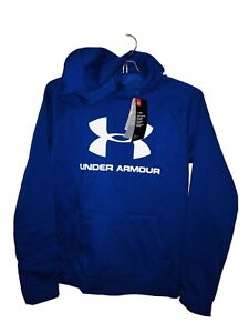 NWT Under Armour Boys' Armour Fleece Embossed Hoodie Blue Youth XL YXL $45 $4.99