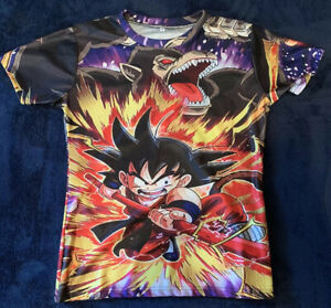 New Vintage Dragon Ball Z Goku M Dry Fit Shirt $14.99