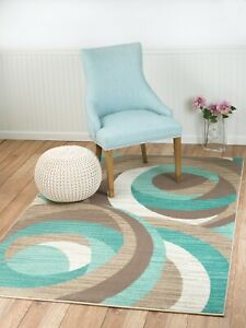 area rug Smt#60 Modern turquoise teal beige gray soft pile size 2x3 3x5 5x7 8x11