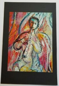 Marc Chagall quot;The Sources of Musicquot; Mounted Lithograph 10quot; x 13quot; 1968 Rare Wow $39.00