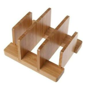 Multifunction Bamboo Cutting Board Rack Holder Stand Pot Wood Rack Kitchen Tools