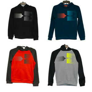 New Under Armour Big Boys Rival Logo Hoodie Sweatshirt Pullover $40.00 $18.80