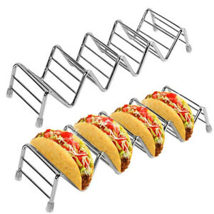 6X Taco Holder Mexican Food Wave Shape Hard Rack Stand Kitchen Cooking Tool US