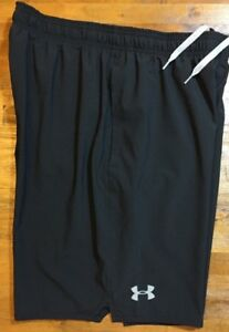 UNDER ARMOUR HEATGEAR LOOSE FIT WOVEN TRAINING SHORTS Men's Medium M Black NWT $34.95