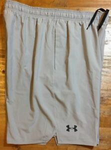 UNDER ARMOUR HEATGEAR LOOSE FIT WOVEN TRAINING SHORTS Men's Medium M Gray NWT $34.95
