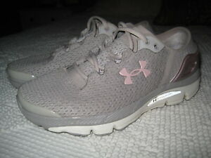 WOMENS UNDER ARMOUR SPEEDFORM I WILL RUNNING SHOES 3000290 GRAY PINK SNEAKER 7 $24.99