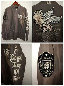 Rebel Spirit A Royal Way Of Life Mens Jacket L A Must Have Buy it Now SHIPS FAST