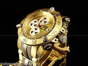 Invicta Men Subaqua Noma III Titanium Swiss A07 Valgranges Chrono Gd Tn SS Watch
