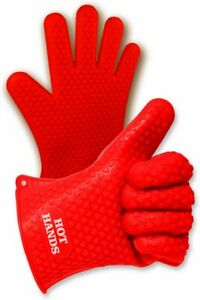 Hot Hands Heat Resistant Silicone Gloves Mitts for Grilling BBQ Kitchen, Cooking