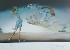 SALVADOR DALI quot; MIRAGE quot; HAND NUMBERED PLATE SIGNED LITHOGRAPH $225.00