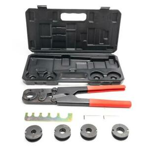 New Home Manual PEX Pipe Crimping Tool Kit Labor-saving Sturdy W Black Case  $47.69