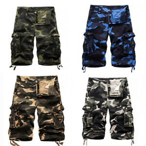 Mens Army Camouflage Shorts Casual Pockets Short Pants Military Summer Trousers