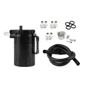 20X(Oil Catch Can Kit Reservoir Tank Engine Black Polish Baffled Universal  B8D2