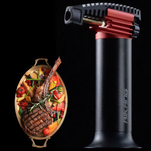 Cooking Torch Lighter Large Butane Tank Long Burning Culinary Blow Chef Kitchen