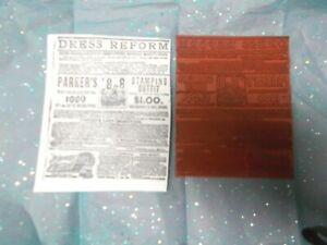Dress Reform sewing background rubber stamp ads words text art stamps collage $6.99
