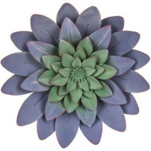 Purple Green Succulent Metal Wall Decor Amazing Wall Art Decor $18.89