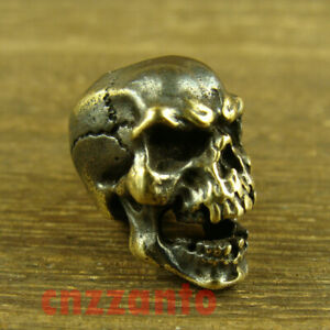 Solid Brass Paracord Bead Lanyard Beads  Skull  for EDC gear LB053C $11.99