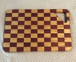 Exotic Wood Cutting Board, Handmade, Unique Pattern, Corner Cutout Handle