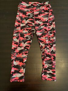 Pink Camo Womens Workout Leggings Small