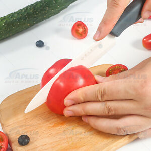 Blade Sharp Ceramic Knife Kitchen Black Silicone Handle With White Blade Home US $7.99