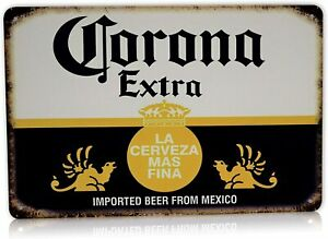 Corona Beer Man Cave Decor Metal Tin Sign Home Party Bar Vintage Signs 8 x 12quot;