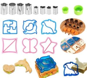 Fun Kids Lunch Sandwich Toast Cookies Mold Cake Bread Biscuit Food Cutter Mould
