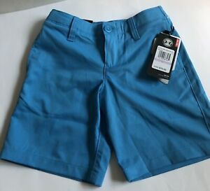 New Under Armour Matchplay Golf Shorts Boys Size 6 Blue 1290349 713 Youth Kids $19.99