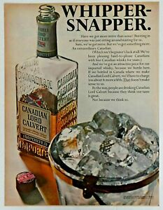 Original Magazine Print Ad 1967 for Canadian Lord Calvert Whisky Whipper Snapper