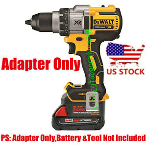 1PCS Milwaukee M18 RED Battery To Dewalt 20V MAX Cordless Tool Adapter US STOCK