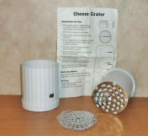 Hand Held Twist Cheese Grater - 2 Different Sized Blades