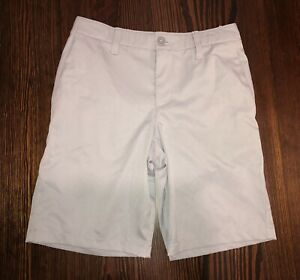 Boys Grey Heatgear Under Armour Golf Shorts Youth Size 12 EUC $17.99