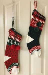 NEW KNIT FAIR ISLE HOLIDAY STOCKING WONDERSHOP CHRISTMAS TARGET 20